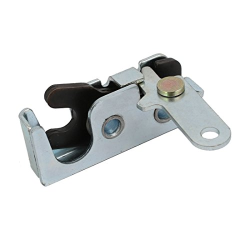 uxcell Door Panel Metal Concealed Rotary Latch Lock Right Hand Silver Tone