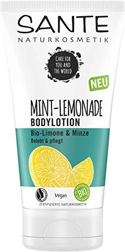 Sante Naturkosmetik MINT LEMONADE Bodylotion, mit Bio-Limone & Minze, Pflege für jede Haut, feuchtigkeitsspendend und vitalisierend, vegan, 150 ml