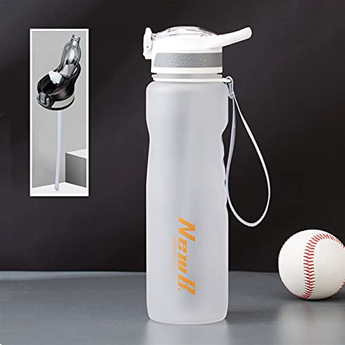 GHJGHJ 650ml / 1000ml Material Tritan Deporte Botella de Agua Deportes Sports Shaker Gym Botting Botting Waterbottle Eco Friendly (Capacity : 1000ml, Color : White with Straw)
