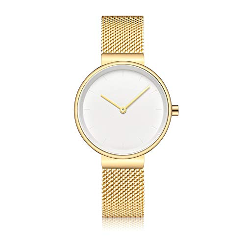 YQCH Reloj de Mujer Luz de Lujo de Lujo Reloj de Cuarzo Muñeca Casual Cuero Rhinestone Designer Damas Reloj Vestido Simple (Color : A)