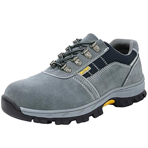Arbeitsschuhe Sicherheitsschuhe Mit Stahlkappe Herren Schuhe Sportlich Atmungsaktiv Schutzschuhe Leicht Arbeitsschuh Bequemer 43 EU