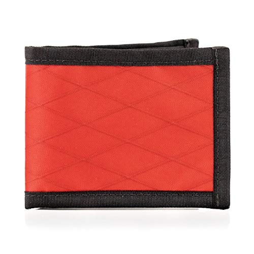 Flowfold Vanguard Bifold Wallet Durable Slim Wallet Front Pocket Wallet, Bifold (Red)