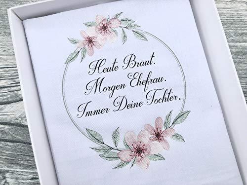 Hochzeit Geschenk Brautmutter - Stofftaschentuch für Freudentränen