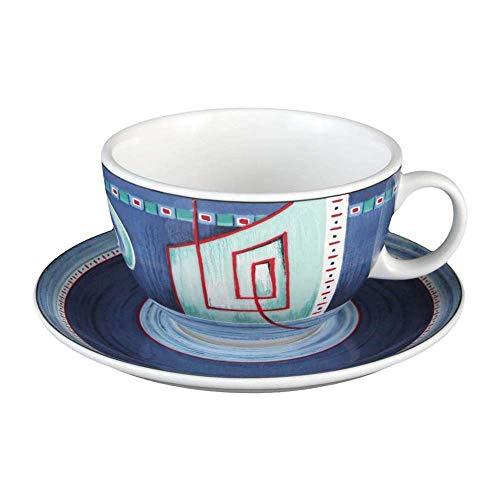 Seltmann Weiden VIP, Tazza e Sottotazza, da Caffè, da Tè, Imperia, Porcellana, Lavabile in Lavastoviglie, 350 ml, 1266179