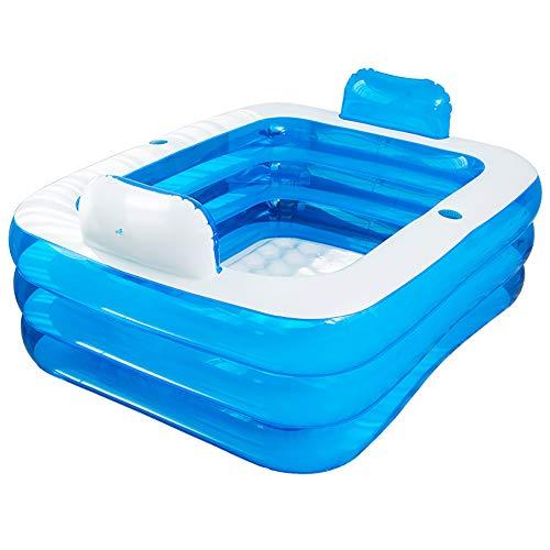 CCZMD Azul Plegable Portable Adulto bañera Inflable Resistente al Desgaste Aislamiento Térmico...