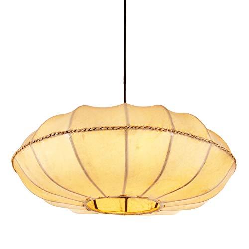 Oosterse lamp hanglamp Chaska Natuur 48 cm groot | Marokkaanse lederen lamp hennalampe lamp lamp lamp met henna | Orient lampen voor woonkamer keuken of hangend boven de eettafel