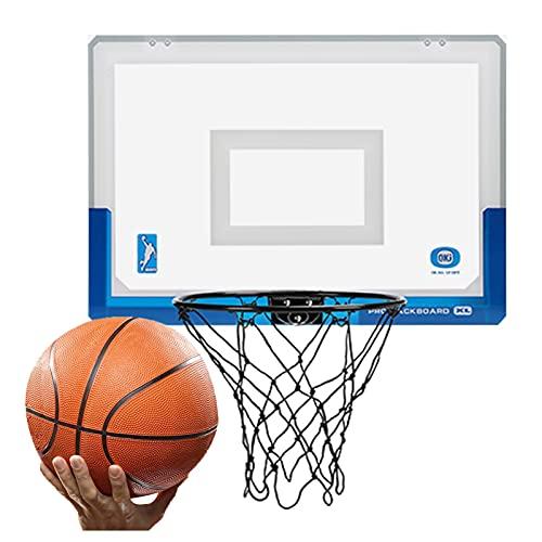 Canasta de Baloncesto Hoop De Mini Baloncesto Interior, Conjunto De Aro De Baloncesto para Niños Y Adultos, Juguetes De Juegos Deportivos para Oficina En Casa Y Dormitorio (Size : 17.9x12in)