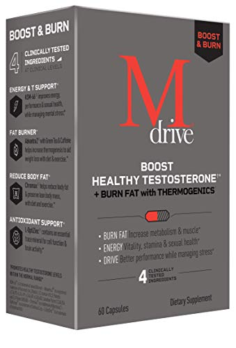 Mdrive Boost and Burn Testosterone Booster and Fat...