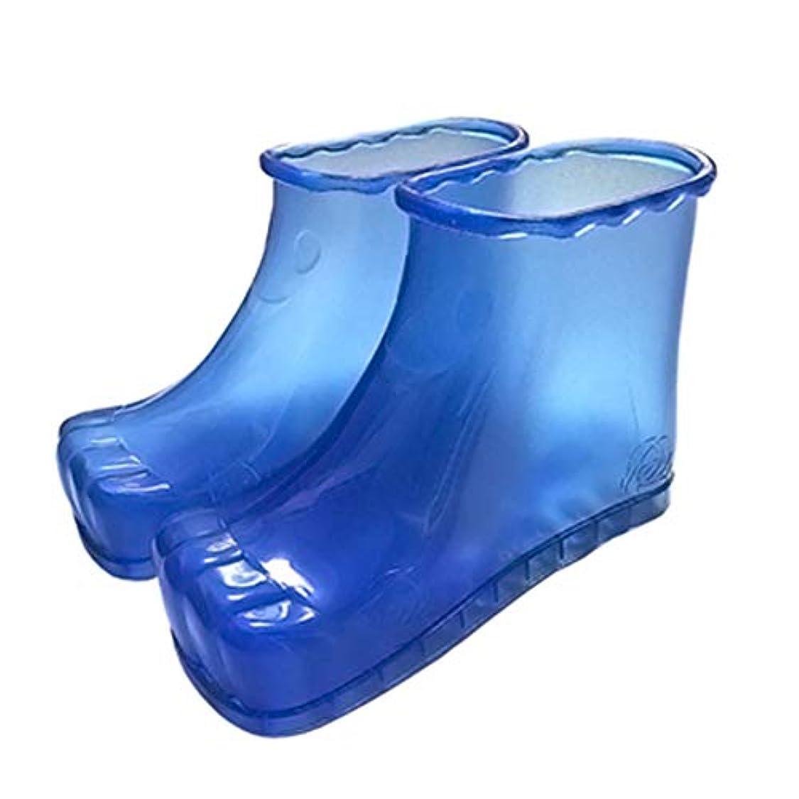 何でもストローク恥ずかしさ足のマッサージ風呂靴、痛みを軽減足の痛みを和らげる疲れていて痛い足のバケツのブーツは、血液循環を促進する,Blue,42