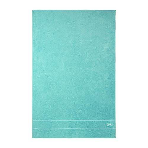 BOSS Hugo Egyptian Cotton Plain Towels, Aqua Bathroom Linen: Bath Sheet, 100x150cm