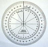 Tarquin円形Protractors–10個パック柔軟な90mm 360度。