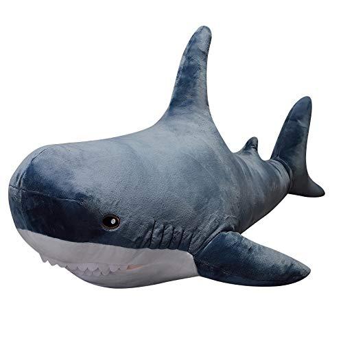 N / A 60cm große Größe lustige weiche Biss Hai Plüsch Spielzeug Kissen Appease Kissen Geschenk für Kinder Baby Mädchen 60cm
