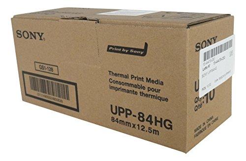 SONY UPP84HG Rollos de papel térmico de alto brillo para impresoras médicas en blanco y negro - tamaño A7 (84mm x 12,5m)
