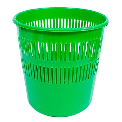 Acan Pamex - Papelera de plástico con Rejilla 28 x 27 cm, Cubo de Basura Multiuso para Oficina, hogar (Color Surtido)