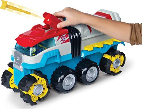 PAW Patrol 6058905 - Dino Rescue Dino Patroller Motorizado Equipo Vehículo con Figuras exclusivas Chase y T-Rex