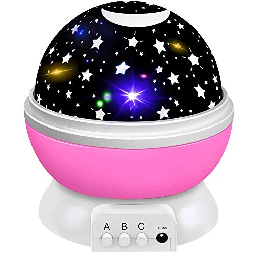Night Light for Kids, Star Night Light Projector for Kids Baby Night Light Speelgoed for 1-10 jaar oude meisjes Boys Birthday Gifts Presents Meisjes Jongens Toddler Toys (Color : Pink)
