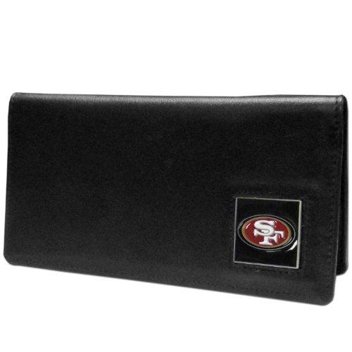 NFL Siskiyou Sports Fan Shop San Francisco 49ers Leather Checkbook Cover One Size Black