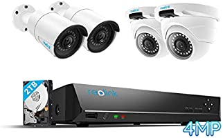 Reolink 8CH 4MP PoE CCTV Camera Systeem, Home security camera systeem met 4X 1440P, twee keer 1080P Outdoor IP Camera's...