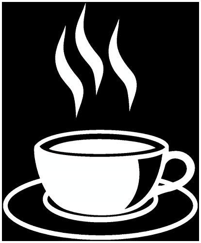 Samunshi® Wandtattoo Kaffeetasse Teetasse Küche in 6 Größen und 19 Farben (16x20cm weiß)