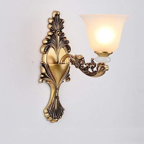 LGOO1 Lanterna Luce di cristallo in stile europeo moderno semplice della lampada da parete di vetro d'oro in lega di zinco di lusso atmosferica parete Illuminazione Soggiorno Camera da letto TV parete
