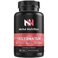 Testosterona testofen + maca+ taurina+ ginseng + Zinc + B6. Prohormonal, aumento de testosterona natural, potenciador muscular, vigorizante. 90 cápsulas vegetales, Fabricado en la UE.