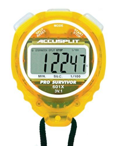 ACCUSPLIT Pro Survivor A601X Stoppuhr, Uhr, extra großes Display (Zitrone)