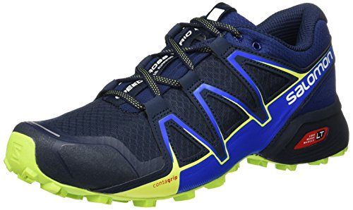 Salomon Speedcross Vario 2, Zapatillas de Trail Running para Hombre, Azul (Navy Blazer/Nautical Blue/Lime Punch), 45 1/3 EU