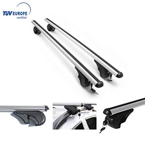 Roof Racks Lockable Cross Bars Carrier Cargo Racks Rail Aluminium Silver Set 2 Pcs. for Mercedes GLB 250 2020-2021