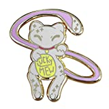 Anime Source Mew Lucky Mew Cat Monster Pin Brooch Lapel Mythical Enamel Mewtwo