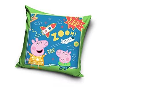Cojín con licencia oficial de Peppa Pig y George Pig Zoom