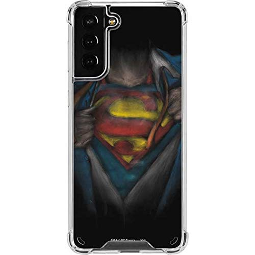 Skinit Clear Phone Case Compatible with Samsung Galaxy S21 Plus 5G - Officially Licensed Warner Bros Superman Chalk Design