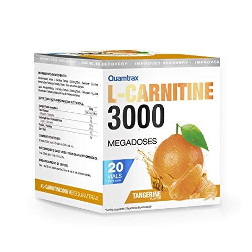 Quamtrax L-Carnitine 3000 Sabor Mandarina - 20 viales x 25ml
