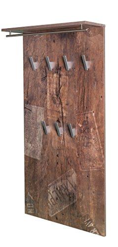 Schildmeyer Brisbane Garderobe 133485, Melaminharzbeschichtete Spanplatte, panamaeiche, 60.0 x 20.5 x 120.5 cm