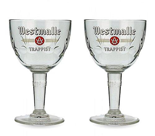 Westmalle Bier Glas, belgisches Trappistenbier Beer (2Stück)