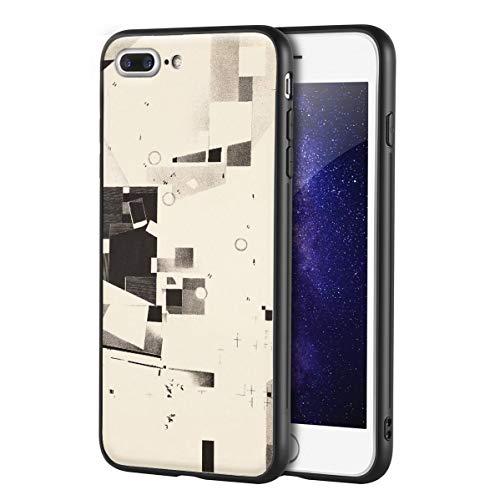 Berkin Arts Kurt Schwitters Custodia per iPhone 7 Plus&iPhone 8 Plus/Custodia per Cellulare Art/Stampa giclée UV sulla Cover del Telefono(Plato De Merz 5)