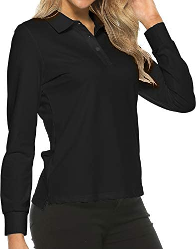 Women s Golf Polo Shirts Long Sleeve Sports Athletic Shirts Performance Tennis Tops Fitness product image