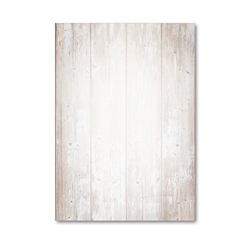 Holz Motiv-Papier Set I beidseitig I 50 Blatt in DIN A4 I Briefpapier Schreibpapier Briefbogen für Urkunden Einladung Geburtstag Speisekarten I dv_210