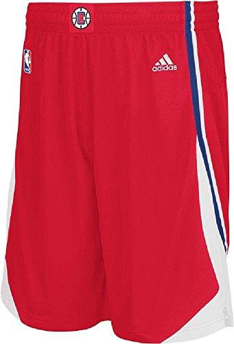 adidas Bordado en Color Rojo de los Angeles Clippers Swingman para Hombre, Hombre Unisex, Rojo