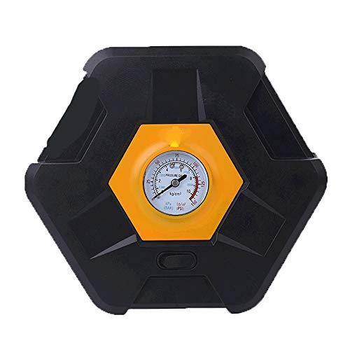 PULLEY-C Duty Portátil 12V Auto Neumático Inflador Bomba Compresor de Aire (Reloj Mecánico) C