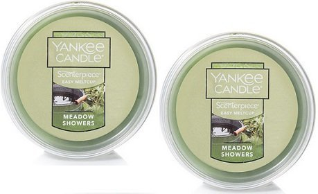Yankee Candle 2 Pack Meadow Showers Easy MeltCup. 2.2 Oz.