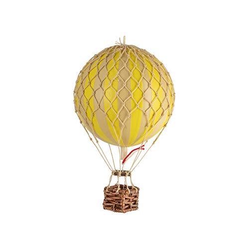 "Authentic Models | Deko Heißluftballon ""Floating the Skies"" AP160Y | Durchmesser 8 cm | Gelb | Miniatur Heißluftballon Deko"