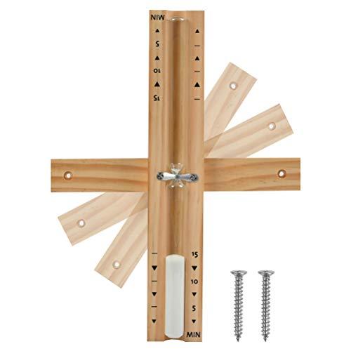 Hitzebeständig Sanduhr Sauna aus Holz 15 Minuten Wandmontage umweltfreundlich Saunauhr+ 2 Edelstahl Schrauben