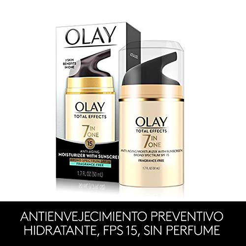 411qU9NTDQL - OLAY Total Effects 7-in-1 Anti-Aging Face Moisturizer with SPF 15, Fragrance-Free 1.7 oz