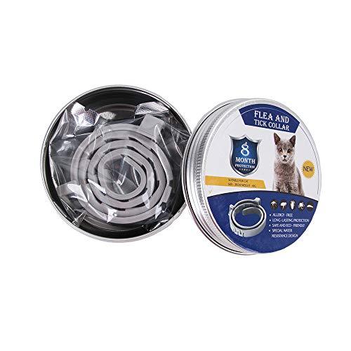 Wo nice Ajustable Anillo De Pulgas para Mascotas, Anti-Piojos Collar del Animal Doméstico Desparasitación Adecuado para Grandes Perros Pequeños, Medianos Y,38cm