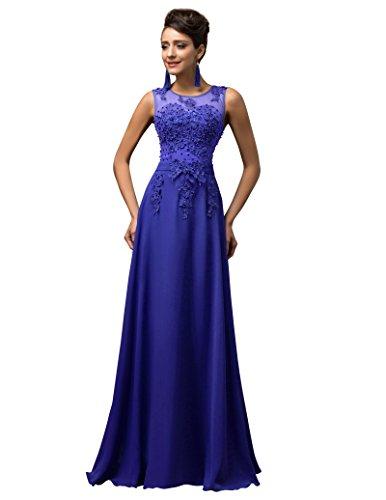 Vestidos Azules Sin Mangas Vestido de Fiesta para Boda Elegante Tallas Grandes 50