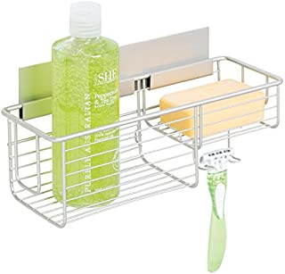 comprar comparacion mDesign Cesta para Ducha – Práctica estantería de baño sin Tornillos – Ideal Organizador de baño en Aluminio para Sus artí...