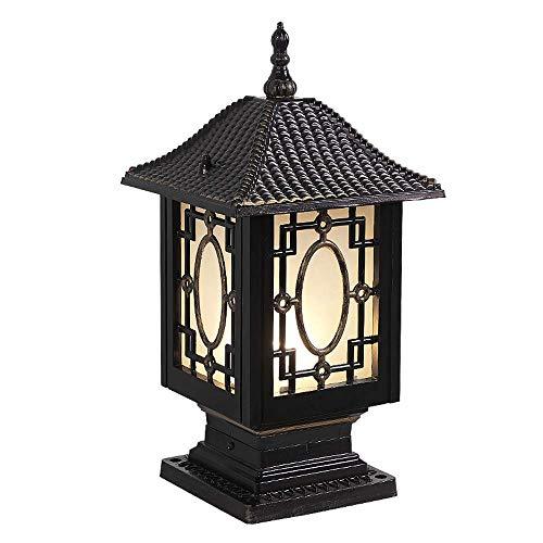 Hai Ying IP55 beoordeeld outdoor mat zwart metalen pool palen lamp licht veiligheid poller lantaarn waterdichte aluminium zuil staande lamp voor Villa Garage Clubhouse zwembad