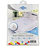 """Waterproof Mattress Cover – 33 x 75 x 12"""" for Toddler, Trundle, Bunk Bed – Heavy Duty Vinyl Plastic Bed Protective Fitted Sheet, 100 GSM PVC – Long Lasting Quality, Comfortable – by Abstract"""