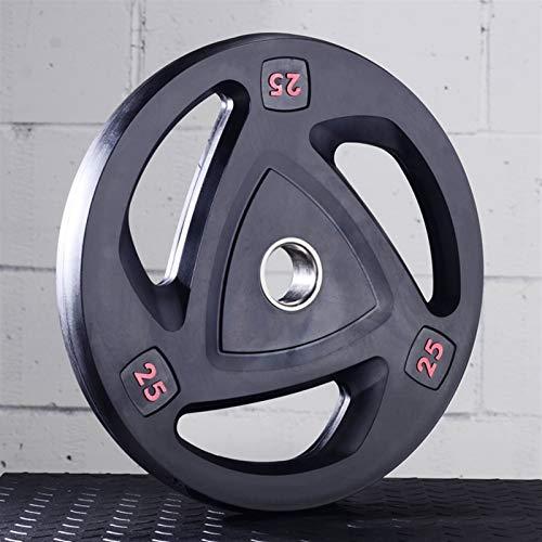 Ownlife 2,5 kg / 5 kg / 10 kg / 15KG / 20KG / 25KG Gewicht Teller Hantel Hantelscheiben 2-Inch-Center-Loch-Platte for Gewicht Crossfit Bodybuilding, Einzel (Größe : 25KG)