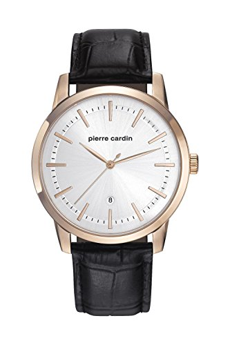 Pierre Cardin Herren Uhr Analog Quarz mit Leder Armband PC901861F02